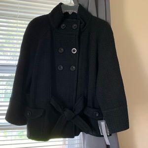 Apt. 9 belted black coat L NWT